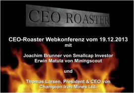 Webkonferenz mit Champion Iron Mines Ltd.