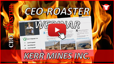 CEO-Roaster KER Kerr Mines Inc Claudio Ciavarella Michael Adams 400×225