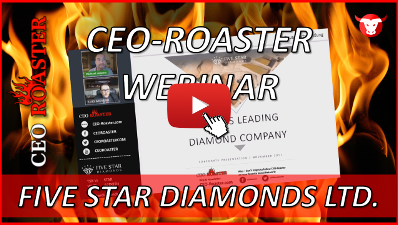 CEO-Roaster Five Star Diamonds Ltd STAR Luis Azevedo Michael Adams-400×225
