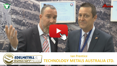 CEO-Roaster TMT Technology Metals Australia Ltd Prescous Metals Convention Munich 2017 Ian Prentice Michael Adams thumb 400×225 tmt