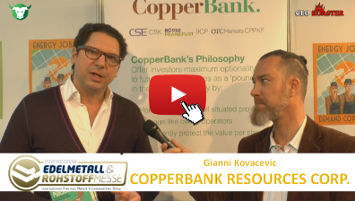 Stock-Telegraph CBK CopperBank Resources Corp Edelmetallmesse 2017 Gianni Kovacevic Michael Adams Thumb 400×224
