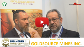 Thumb 400×225 GXS Goldsource Mines Inc Precious Metals Convention Munich 2017 Yannis Tsitos Michael Adams