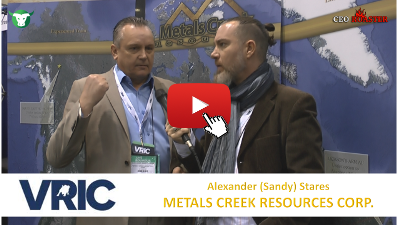 CEO-Roaster VRIC 2018 MEK Metals Creek Resources Corp Sandy Stares Michael Adams 400×225